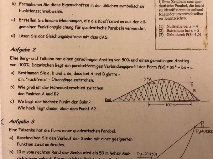 Berg- und Talbahn ! Funktion bestimmen | Mathelounge