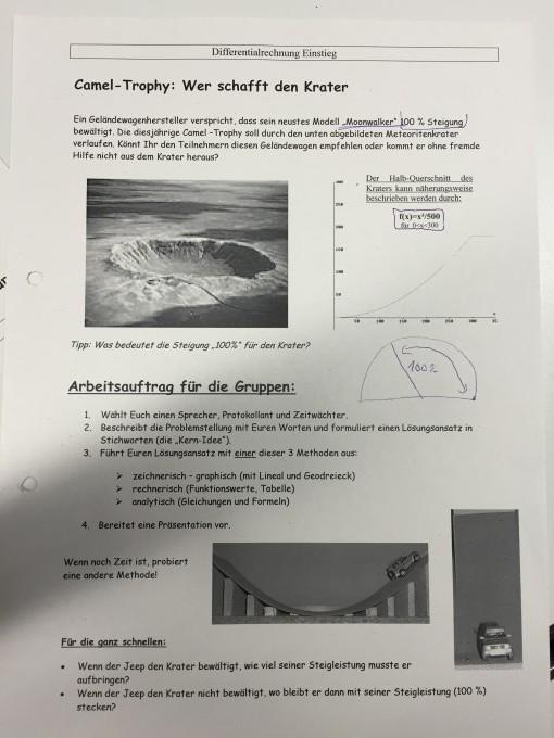 Steigung / Krater 100% Hilfe:) | Mathelounge
