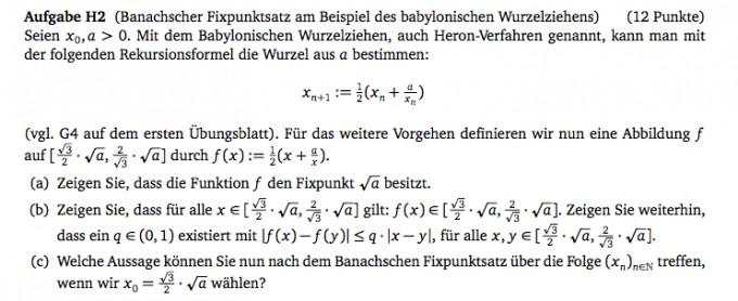 Banachscher Fixpunktsatz Am Beispiel Des Babylonischen Wurzelziehens Mathelounge