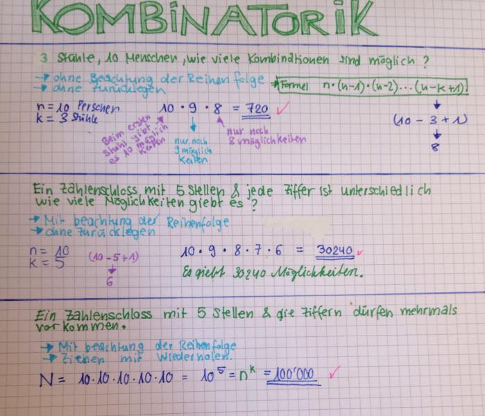 Kombination Mathe