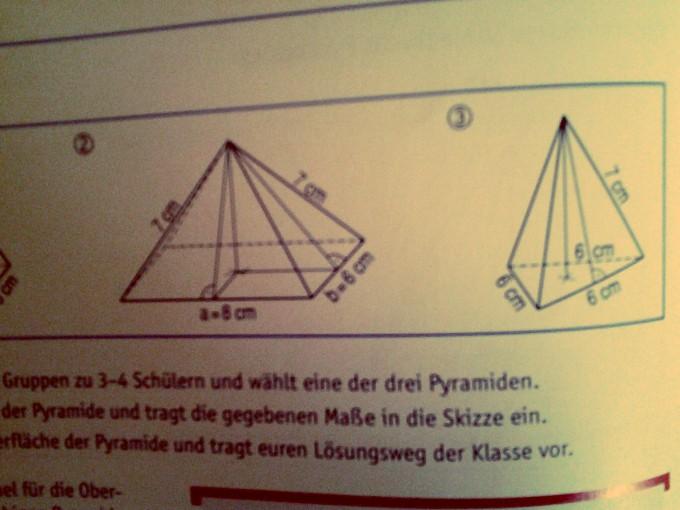 k rper rechteckige und dreieckige pyramide oberfl che. Black Bedroom Furniture Sets. Home Design Ideas