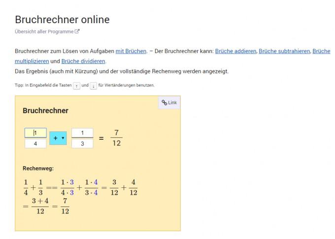 Bruchrechner online
