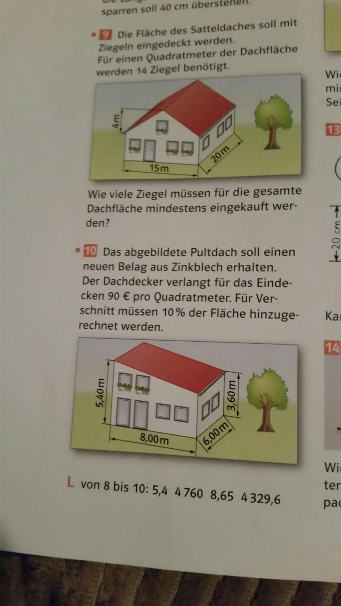 textaufgabe fl che und preis des daches berechnen nr 10. Black Bedroom Furniture Sets. Home Design Ideas
