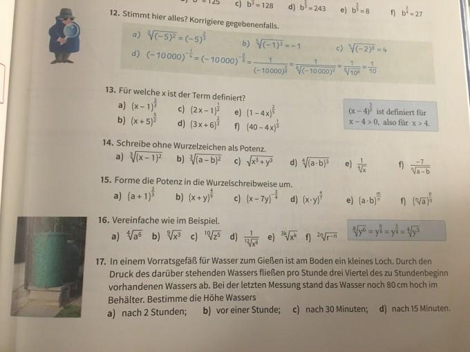 Potenzen mit rationalen exponenten Aufgabe 17 | Mathelounge