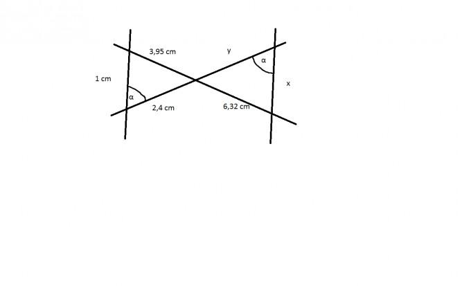 strahlensatz berechne die l ngen x und y mathelounge. Black Bedroom Furniture Sets. Home Design Ideas