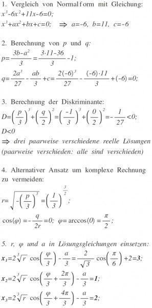 Gleichung 3. Grades lösen: x^3-6x^2+11x-6=0 | Mathelounge