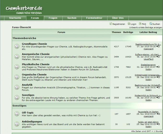 screenshot chemikerboard.de