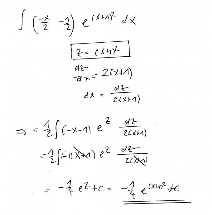 Unbestimmtes Integral Berechnen : integral unbestimmtes integral berechnen x 2 1 2 e x 1 2 dx bild mathelounge ~ Themetempest.com Abrechnung