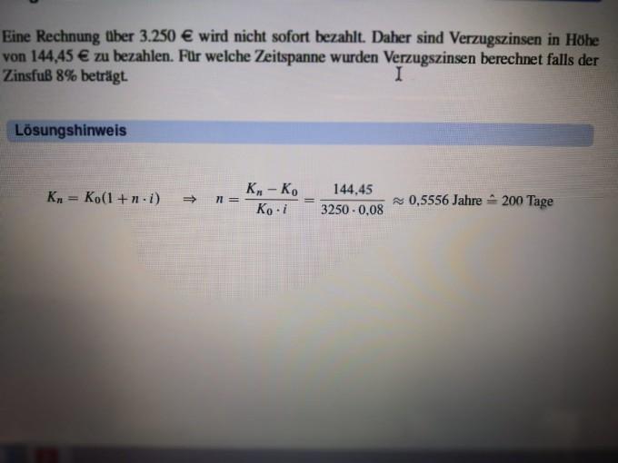 Verzugszinsen Was Wird Für K Eingesetzt Mathelounge