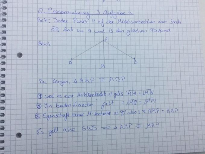 Beweis mit Hilfe der Kongruenzsätze   Mathelounge