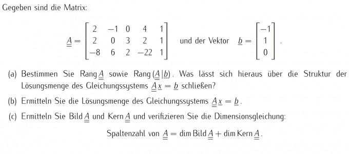 rang einer matrix ermitteln mathelounge