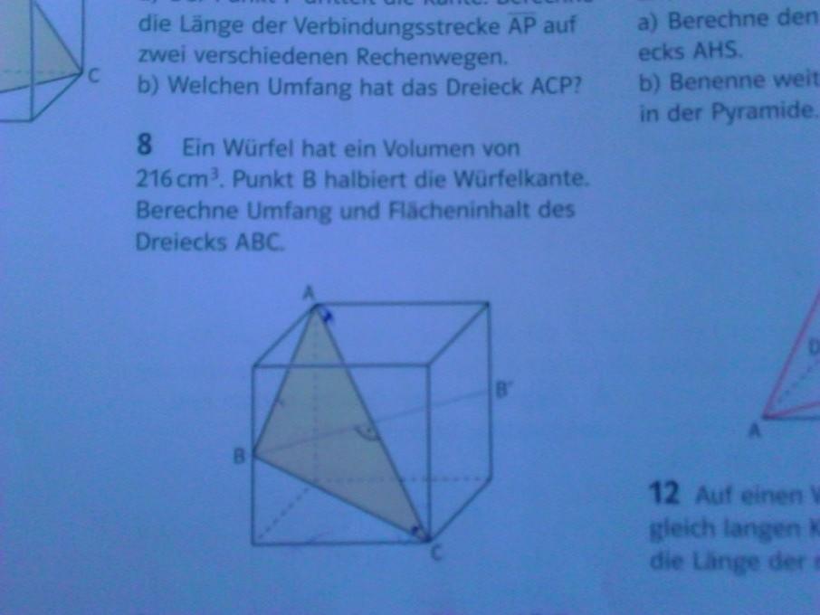 satz des pythagoras in r umlichen figuren erkl ren dreieck im w rfel mathelounge. Black Bedroom Furniture Sets. Home Design Ideas
