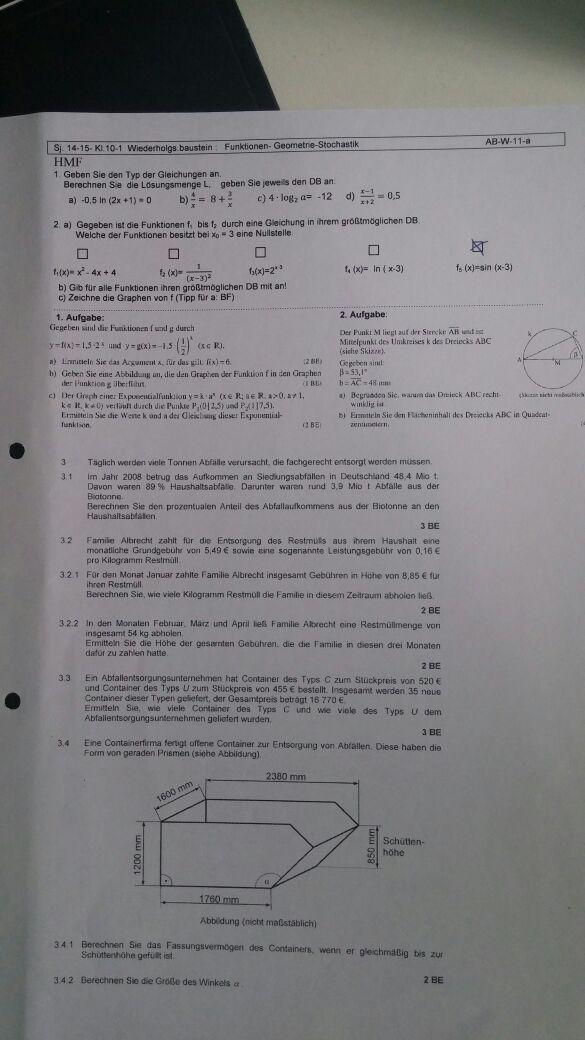 Gleichungen und Graphen. HMF-Teil. Gleichungstyp und Lösungsmengen ...