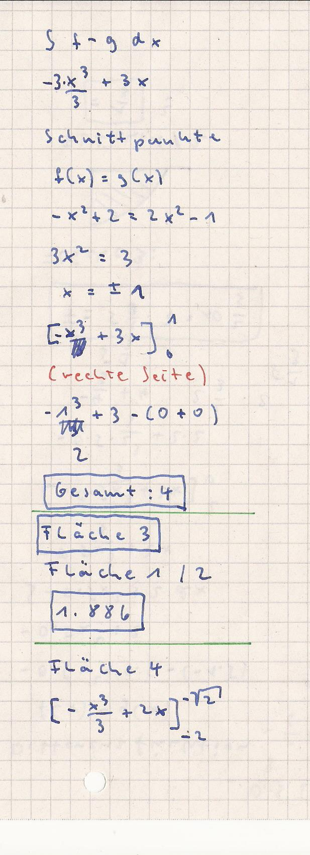 integralrechnung fl chen in verschiedenen quadranten a f x 0 5x 2 0 5 g x 1 5. Black Bedroom Furniture Sets. Home Design Ideas