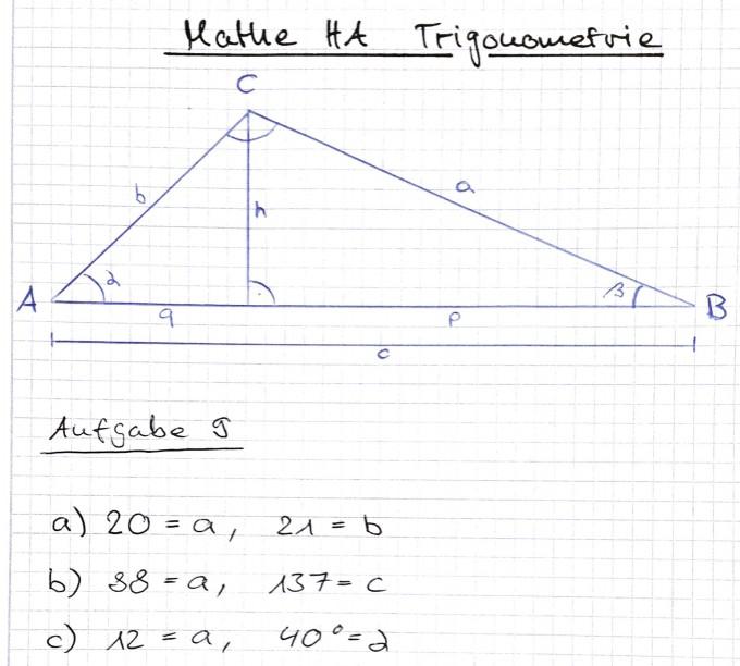 trigonometrie fehlende seiten berechnen ein wert fehlt. Black Bedroom Furniture Sets. Home Design Ideas