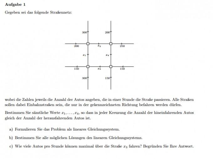 stra ennetz als lineares gleichungssystem mathelounge. Black Bedroom Furniture Sets. Home Design Ideas