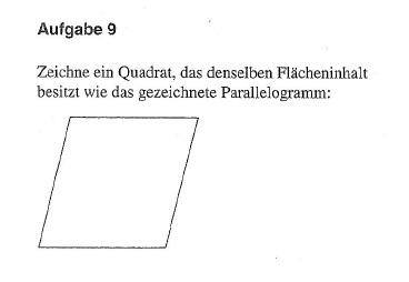 Quadrat zeichnen mit demselben Flächeninhalt wie ein Parallelogramm ...