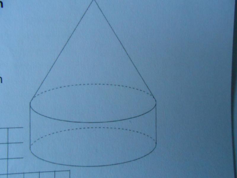 zylinder mit aufgesetztem kegel berechne die h he des. Black Bedroom Furniture Sets. Home Design Ideas