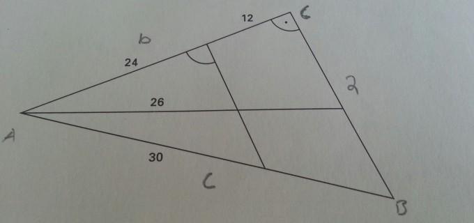 Mit dem Satz des Pythagoras & der Ähnlichkeit die Länge der sechs ...