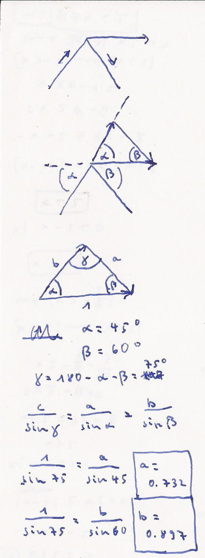 Resultierende kraft ermitteln zeichnerisch und rechnerisch for Resultierende kraft berechnen