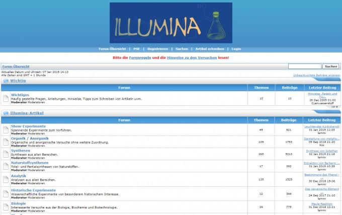 screenshot illumina-chemie