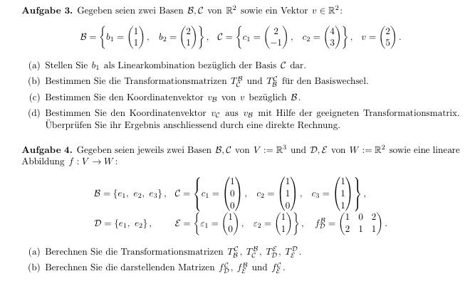 matrix darstellende matrizen berechnen was muss ich bei 3 und 4b machen mathelounge. Black Bedroom Furniture Sets. Home Design Ideas
