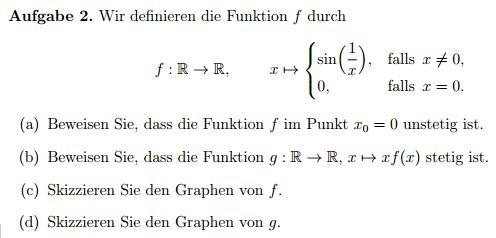 Stetigkeit Von Funktionen Beweisen Und Zeichnen Mathelounge