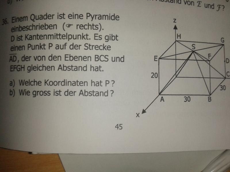 in einem quader ist eine pyramide einbeschreiben abstand. Black Bedroom Furniture Sets. Home Design Ideas