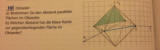oktaeder lineare algebra abstand kante zu. Black Bedroom Furniture Sets. Home Design Ideas
