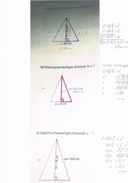 pythagoras kennzeichne in den beispielen das rechtwinkelige dreieck und beschrifte die. Black Bedroom Furniture Sets. Home Design Ideas