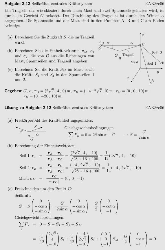 Kr fte und vektoren zentrales kr ftesystem erkl rung der for Zentrales kraftesystem