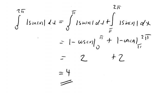 integral von sin x mit integralgrenzen 2pi und 0. Black Bedroom Furniture Sets. Home Design Ideas