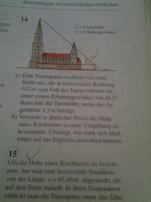 Berechnungen an rechtwinkligen Dreiecken 3 Aufgaben   Mathelounge