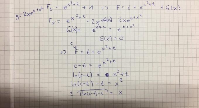 exakte dgl integrieren mit formel | Mathelounge