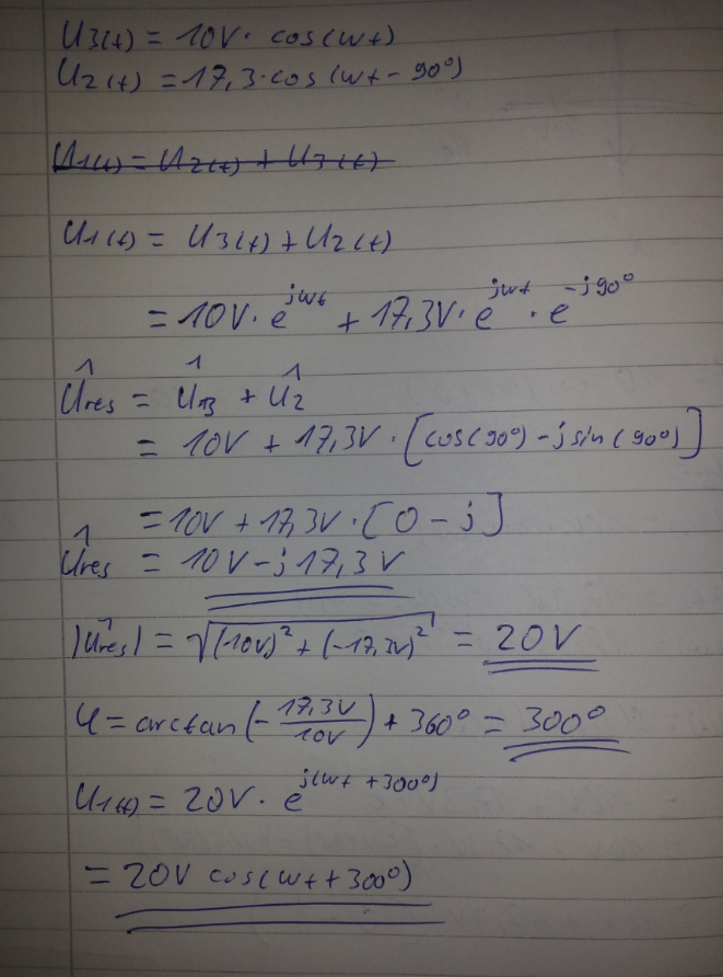U1 Berechnen : addieren komplexe zahlen elektrotechnik u1 u2 u3 berechnen mathelounge ~ Themetempest.com Abrechnung