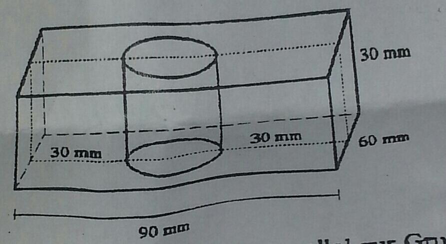 werkst ck quader mit loch querschnitt 1 1 zeichnen. Black Bedroom Furniture Sets. Home Design Ideas
