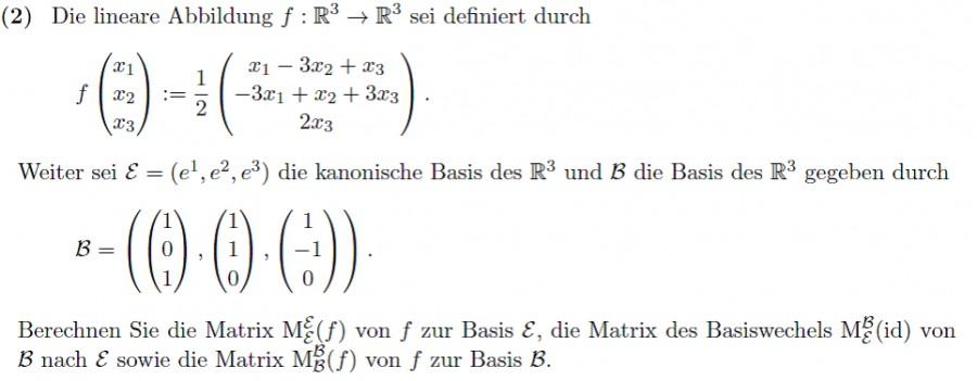 matrix und basiswechsel berechnen f x1 x2 x3 1 2 x1. Black Bedroom Furniture Sets. Home Design Ideas
