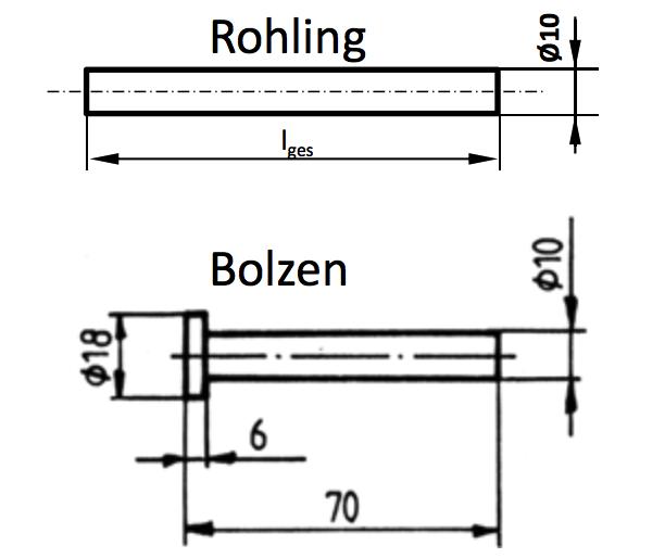volumen wie lang ist der rohling wenn der aus dem rohling gefertigte bolzen folgende angaben. Black Bedroom Furniture Sets. Home Design Ideas