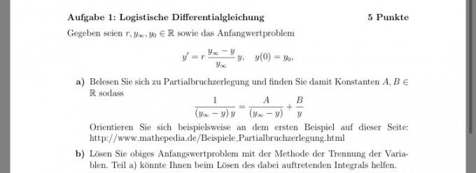 Lose Das Anfangswertproblem Durch Trennung Der Variable Mathelounge