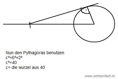 zeichne von jedem punkt die tangenten an den kreis mit dem radius 2cm mathelounge. Black Bedroom Furniture Sets. Home Design Ideas