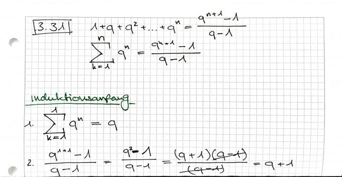 geometrische summenformel