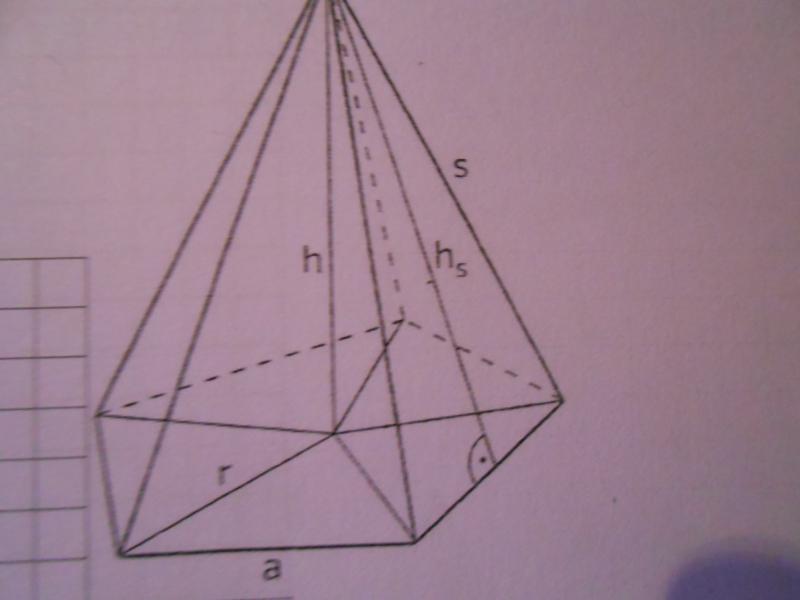 Um wie viel Prozent ist die Mantelfläche der Pyramide größer als die ...