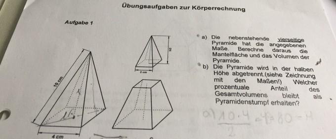 vierseitige pyramide berechnen mantelfl che und volumen. Black Bedroom Furniture Sets. Home Design Ideas