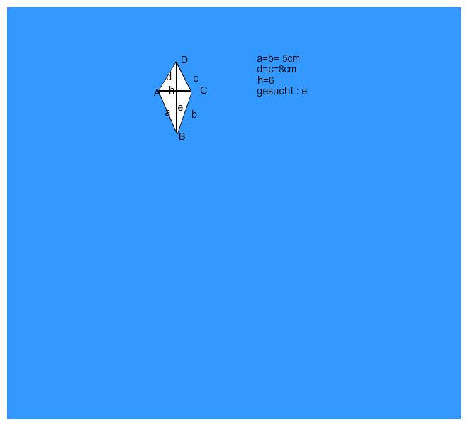satz des pythagoras suche f in einem drachenviereck. Black Bedroom Furniture Sets. Home Design Ideas