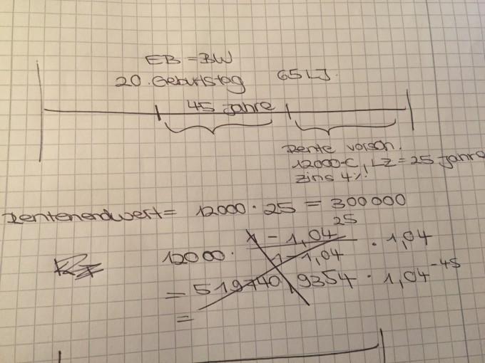 finanzmathematik rentenrechnung 3 einmalbetrag eb. Black Bedroom Furniture Sets. Home Design Ideas