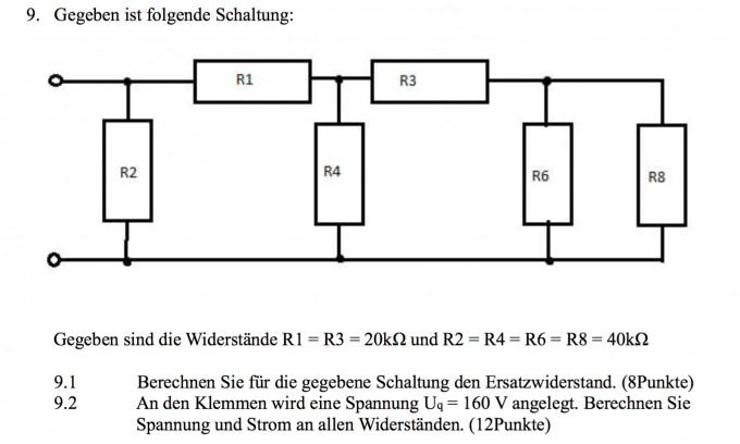 Parallelschaltung Widerstände Berechnen : schaltung schaltung mit 6 widerst nden spannung und strom berechnen nanolounge ~ Themetempest.com Abrechnung