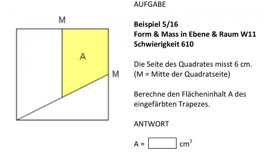 geometrie fl cheninhalt von trapez in quadrat mathelounge. Black Bedroom Furniture Sets. Home Design Ideas