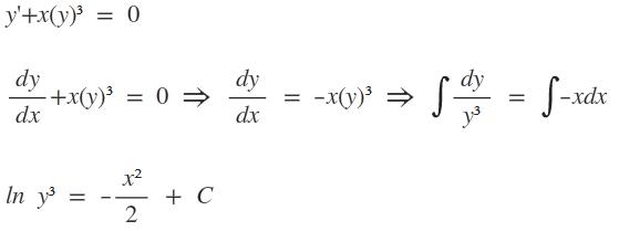 Differentialgleichung: Durch Trennung der Variablen allg. Lösung von ...