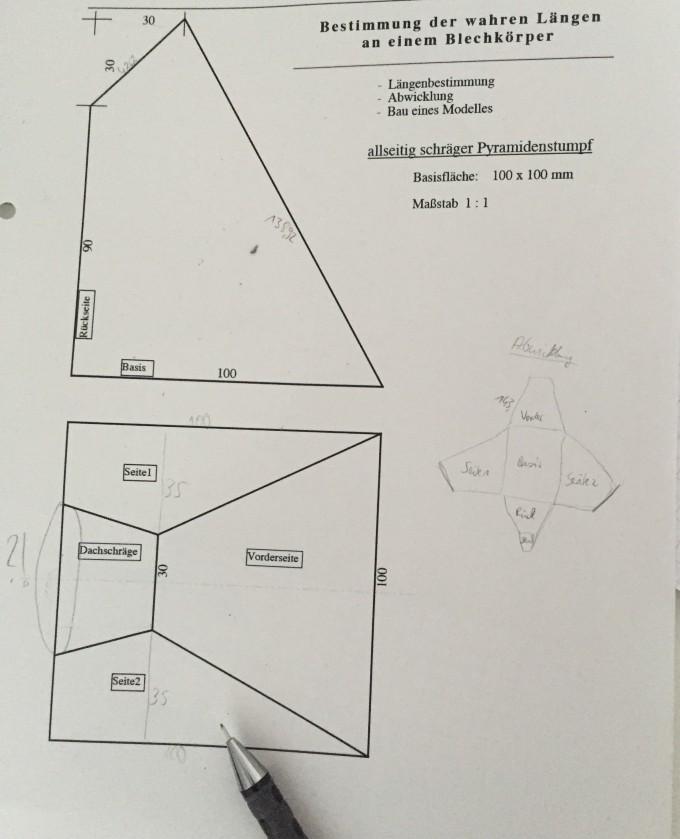 seitenl ngen 39 pyramidenstumpf 39 berechnen mathelounge. Black Bedroom Furniture Sets. Home Design Ideas