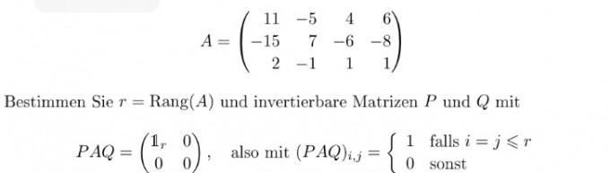 matrix inverse berechnen edit r rang a p und q. Black Bedroom Furniture Sets. Home Design Ideas